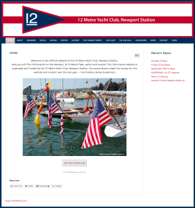 12 Metre Yacht Club website by Windlass Creative