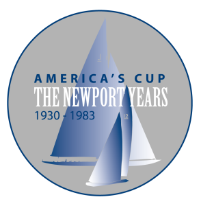 America's Cup Newport Years Exhibit logo by SallyAnne Santos