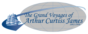 The Grand Voyages of Arthur Curtiss James Exhibit logo by SallyAnne Santos