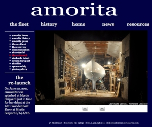 Amorita website design by Windlass Creative