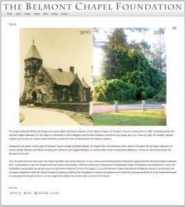 Belmont Chapel website by Windlass Creative