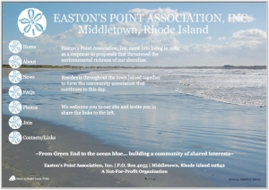 Easton's Point Association website by Windlass Creative