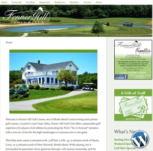 Fenner Hill Golf Club website by Windlass Creative