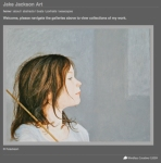 Jake Jackson, Artist website designed by Windlass Creative