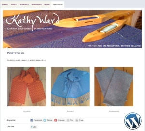 Kathy Ward Hand Weaving website by Windlass Creative