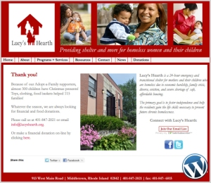 Lucy's Hearth website designed by Windlass Creative
