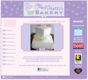 Mad Hatter Bakery website designed by Windlass Creative