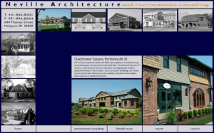Neville Architecture website designed by Windlass Creative