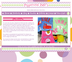 Children's Clothing website designed by Windlass Creative