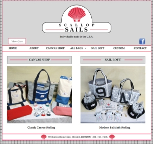 Scallop Sails website designed by Windlass Creative
