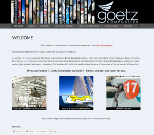 Goetz Composites website design by Windlass Creative
