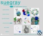 Suegray Seaglass website designed by Windlass Creative