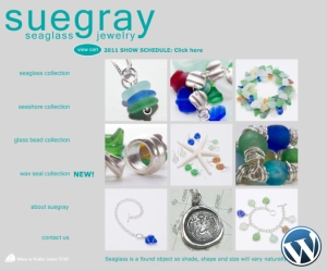 Suegray Seaglass website designed by Windlass Creative