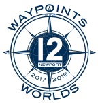 12 Metre Waypoints to the Worlds logo by SallyAnne Santos