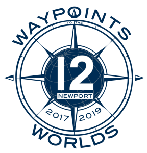 12 Metre Waypoints to the Worlds logo by SallyAnne Santos