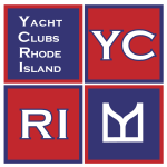 Yacht Clubs of Rhode Island Exhibit logo by SallyAnne Santos