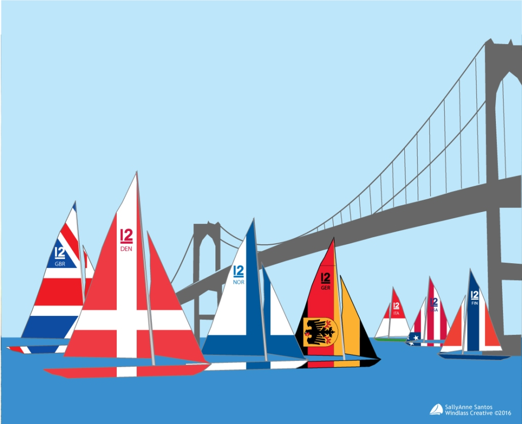 12mR Worlds Newport: poster artwork
