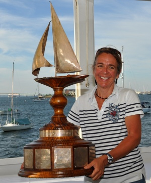 SallyAnne Santos, winner of Ted Turner Trophy for outstanding contribution to 12 Metre Class on or off of the water.